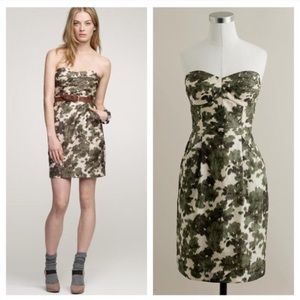 Jcrew green ikat dress